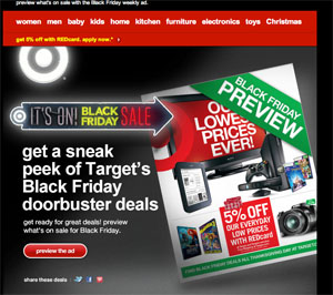 Black Friday Preview Email