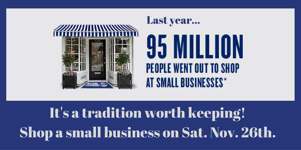 Small Business Saturday is coming up