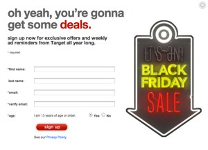 Target pre black friday ad