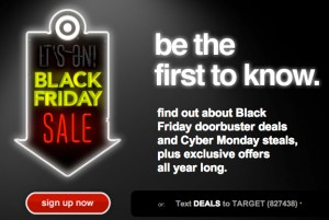 sign up now at Target
