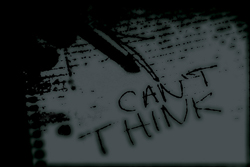 can't think; can't write