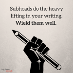 How To Use Savvy Subheads In Your Sales Copy