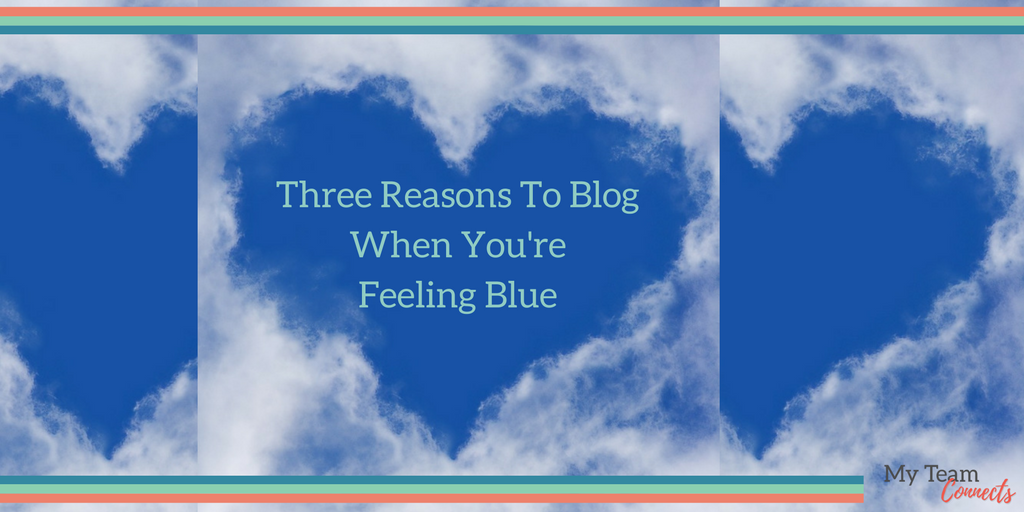 do you blog when you're feeling blue?