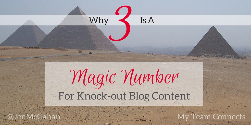 3 is a magic number in blog content