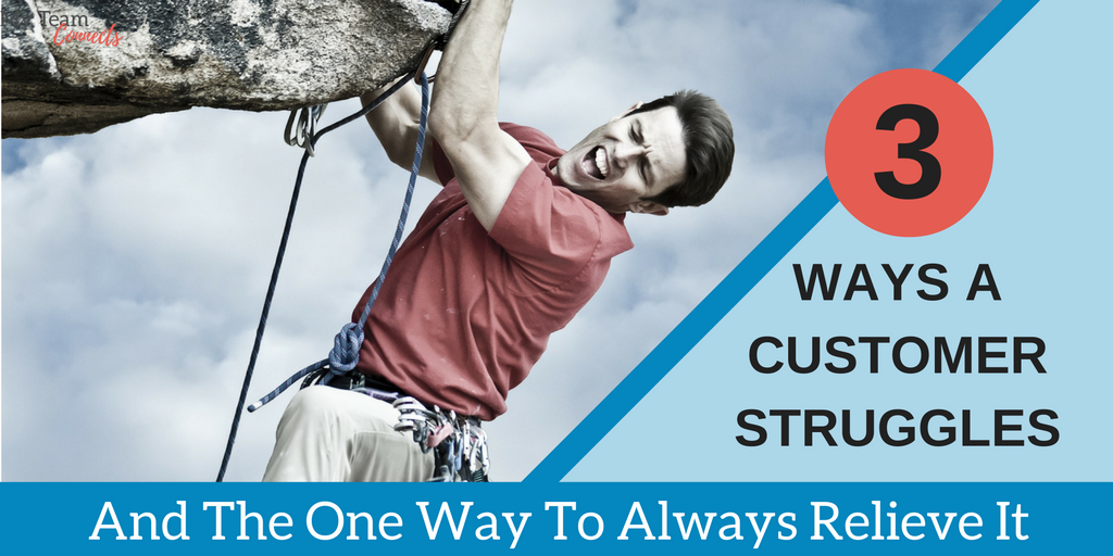 three ways a customer struggles