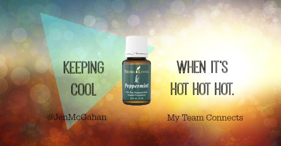 keeping cool with peppermint essential oil