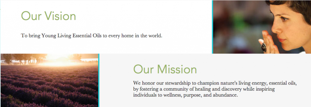Young Living vision and mission statements