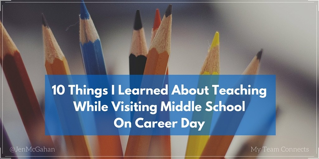 what I learned about teaching on Career Day