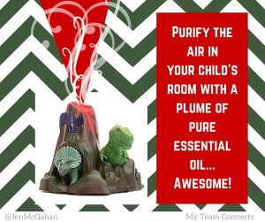 Dinosaur essential oil diffuser for children