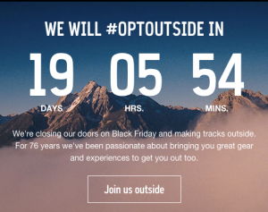 REI opt outside Black Friday campaign