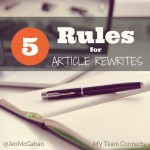 Five Rules For Rewrites