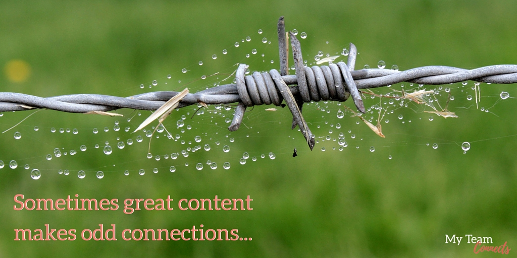 great content makes odd connections