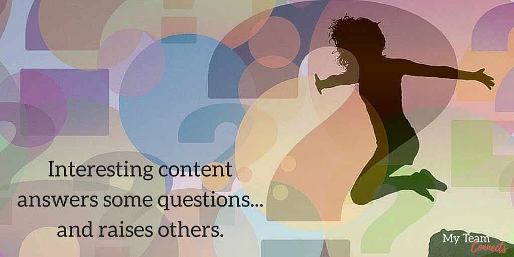great content raises questions