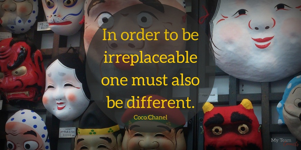 one must be different to be irreplaceable