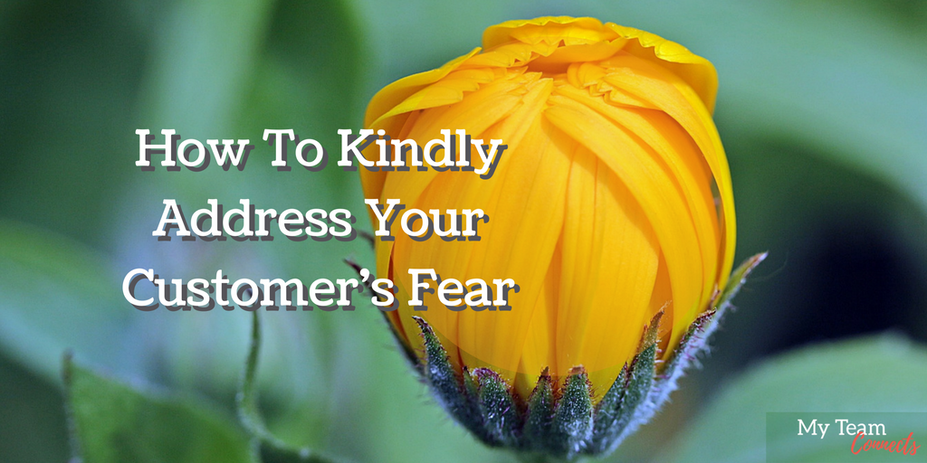 kindly address your customer's fear