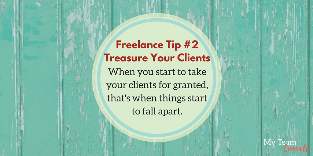 don't take clients for granted