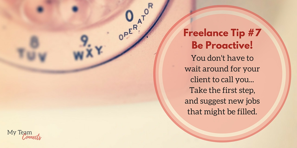 be a proactive freelancer!