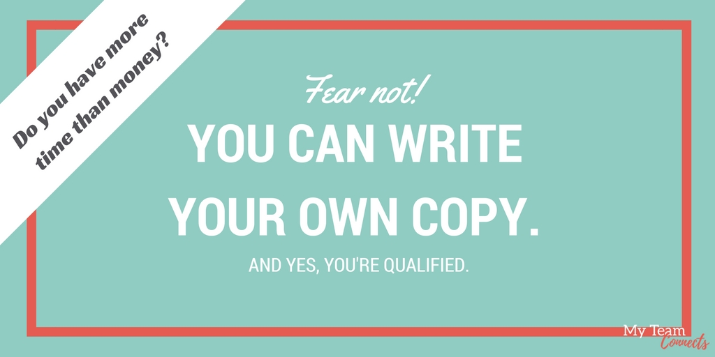 You can write your own copy