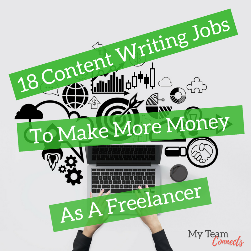 content writing jobs to make more money as a lancer my  18 content writing jobs to make more money as a lancer my team connects