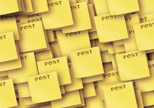 post its keeping you organized?