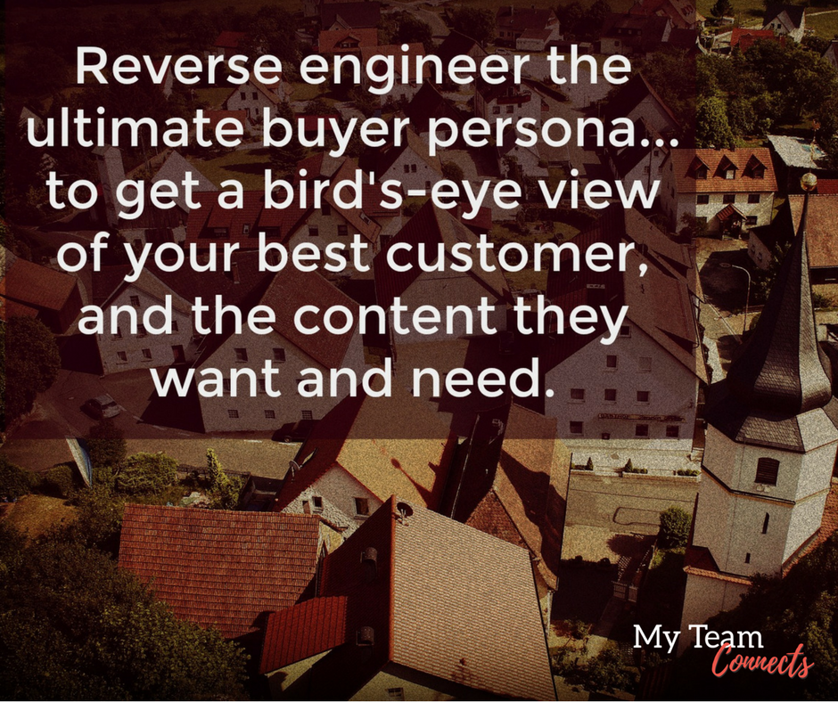 take a bird's-eye view of your buyer persona